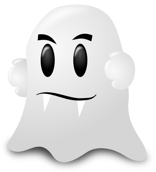 Cartoon Ghost Clip Art at Clkercom  vector clip art online