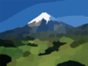 World New Zeland Taranaki Mountain Clip Art