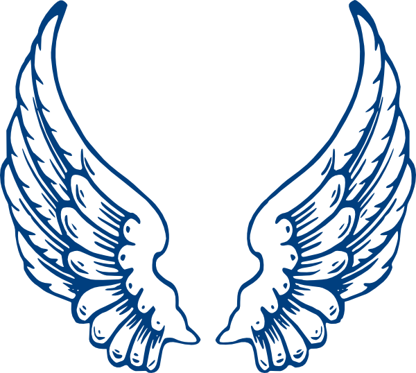 free angel wings with halo clip art - photo #4