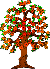 Flowered Tree Clip Art