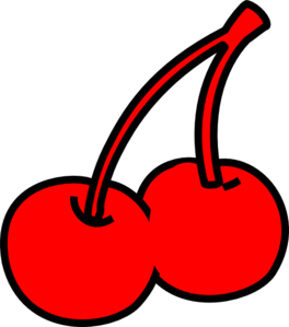 Two Red Cherry Clip Art