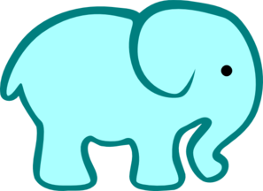Personalized Birthday Elephant- A Clip Art