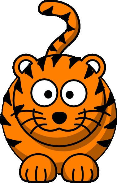 tiger cartoon clip art at clker com vector clip art online rh clker com cartoon tiger face clipart bengal tiger cartoon clipart