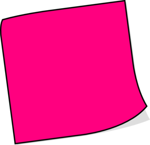 Pink Sticky Note Clip Art