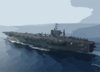 Uss George Washington Steams Through The Mediterranean Sea Clip Art