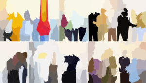 Thirty People By Blueludebar Clip Art