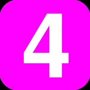 number 4 pink clip art at clker com vector clip art online rh clker com clipart 4 leaf clover clipart 4 saisons