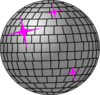 Pink And Silver Disco Ball Clip Art