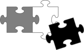 Black Puzzle Pieces Clip Art
