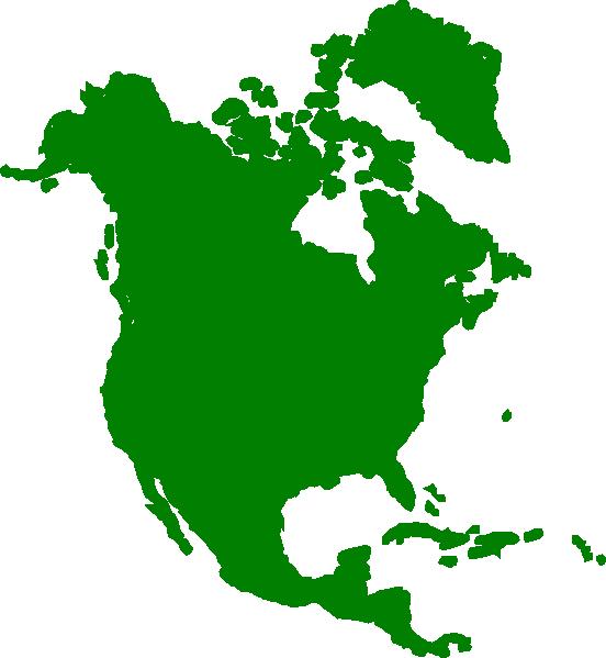 clipart map north america - photo #5
