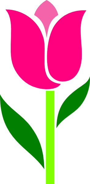 pink tulip leaves askew clip art at clker com vector clip art rh clker com tulip clipart for weddings tulip clipart black and white