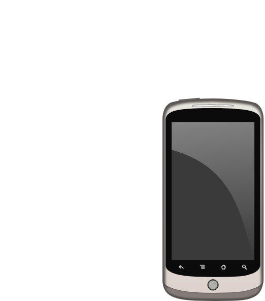 cell phone clipart black and white - photo #41