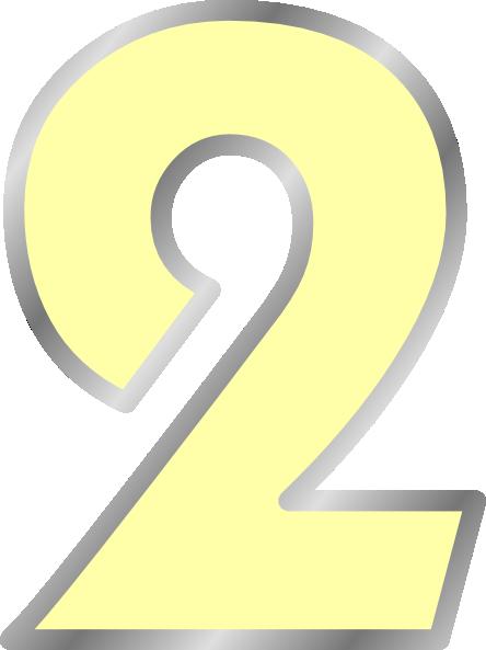 Yellow Transparent Number 2 Clip Art at Clker.com - vector ...