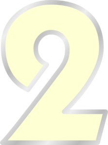 Yellow Transparent Number 2 Clip Art