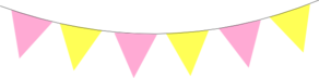 Pink Yellow Bunting Clip Art