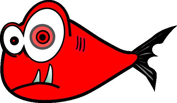 Red Fish Black Test 3 Clip Art at Clker.com - vector clip art online ...