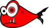 Red Fish Black Test 3 Clip Art