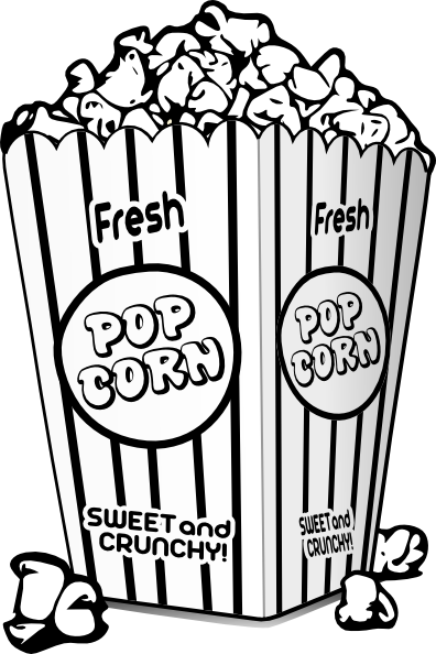 Popcorn Black And White Clip Art at Clker.com - vector clip art online ...