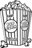 Popcorn Black And White Clip Art