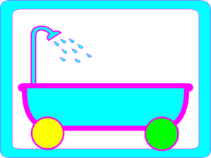 Tub On Wheels Clear Background Clip Art