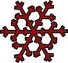 Dark Red Snowflake Clip Art