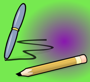 Pencil And Pen Clip Art
