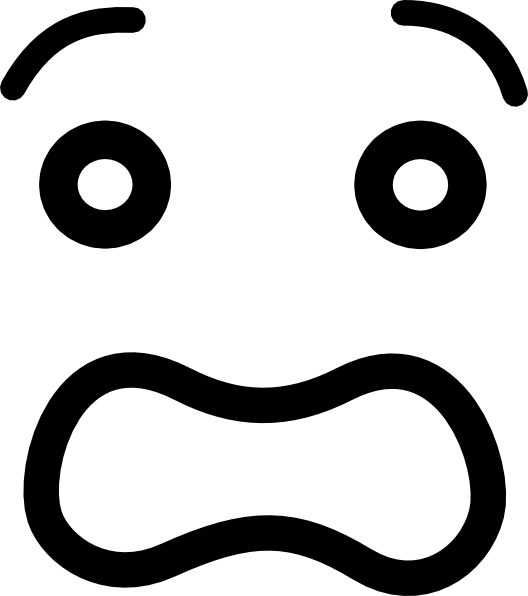 Worried cartoon mouth