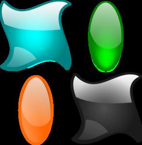 Glossy Shapes 2 clip art