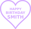 Smith Bday Purp2 Clip Art