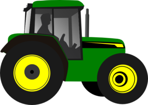 Tractor-greenyellow Clip Art