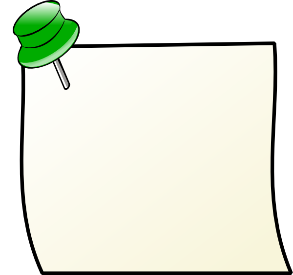 Line Art Notes : Note with pin clip art at clker vector