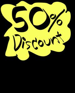 50% Discount Clip Art