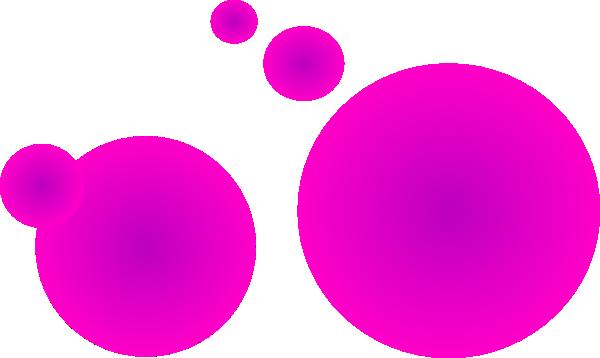 fuzzy pink circle 2 clip art at clker com