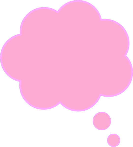 Pink Thinking Bubble - ma