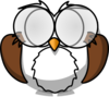 Owl With Glasses Clip Art