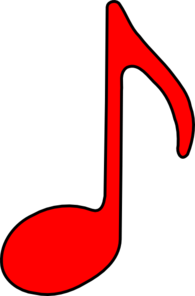 Eighth Note Red Clip Art