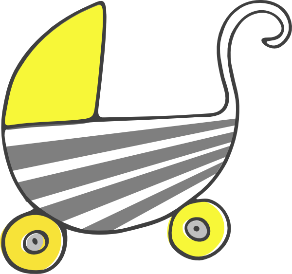 gray yellow stroller clip art at clker com vector clip art online rh clker com running stroller clipart baby stroller clipart black and white