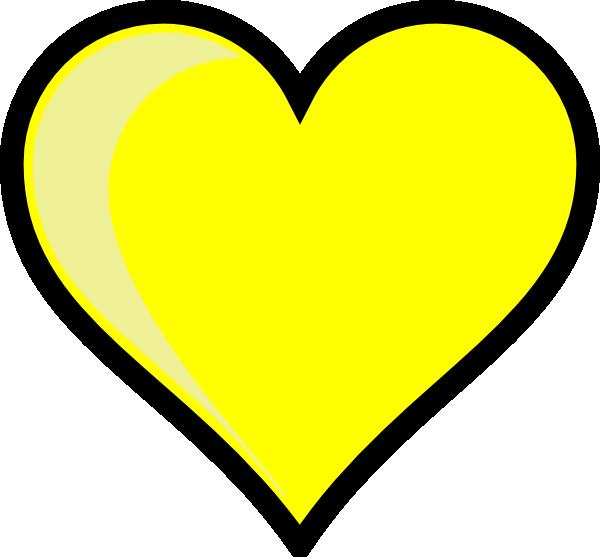 clip art yellow heart - photo #3