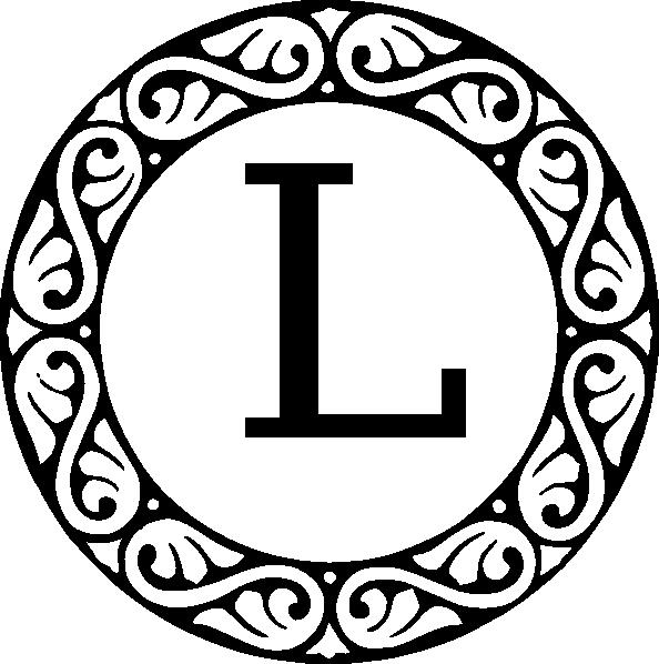 Monogram Letter L Clip Art At Clker Com Vector Clip Art Online