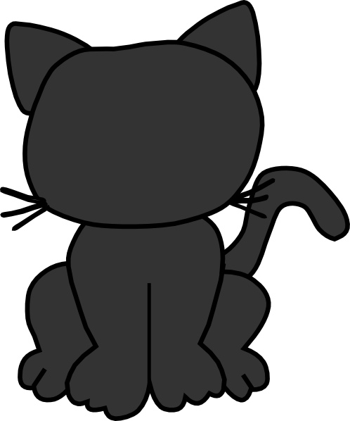 Black Cat Outline Clip Art at Clker.com - vector clip art ...