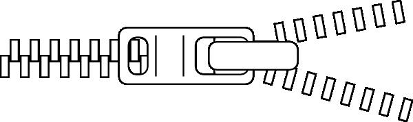 Zipper outline clip art at vector clip art for Zipper coloring page