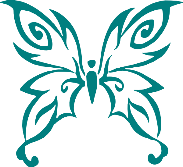 teal butterfly clip art at clker com vector clip art online rh clker com free ovarian cancer ribbon clip art
