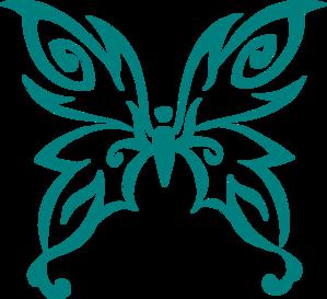Teal Butterfly Clip Art At Clker Com Vector Clip Art