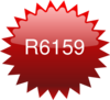 R6159 Red Star Price Tag Clip Art