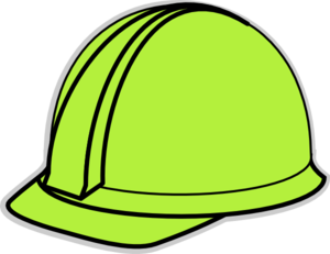 Green Hard Hat Clip Art