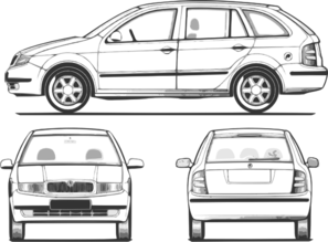 Fabia - All Views Clip Art
