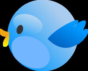 Twitter bird. Cutie clip art at
