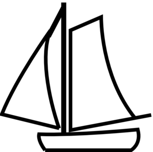 Sailing Boat White clip art - vector clip art online, royalty free ...