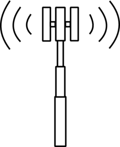 Cell-tower-letter-t Clip Art