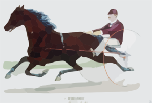 Trotting Stallion Nelson, By Young Rolfe: Record 2:14 1/4 Clip Art